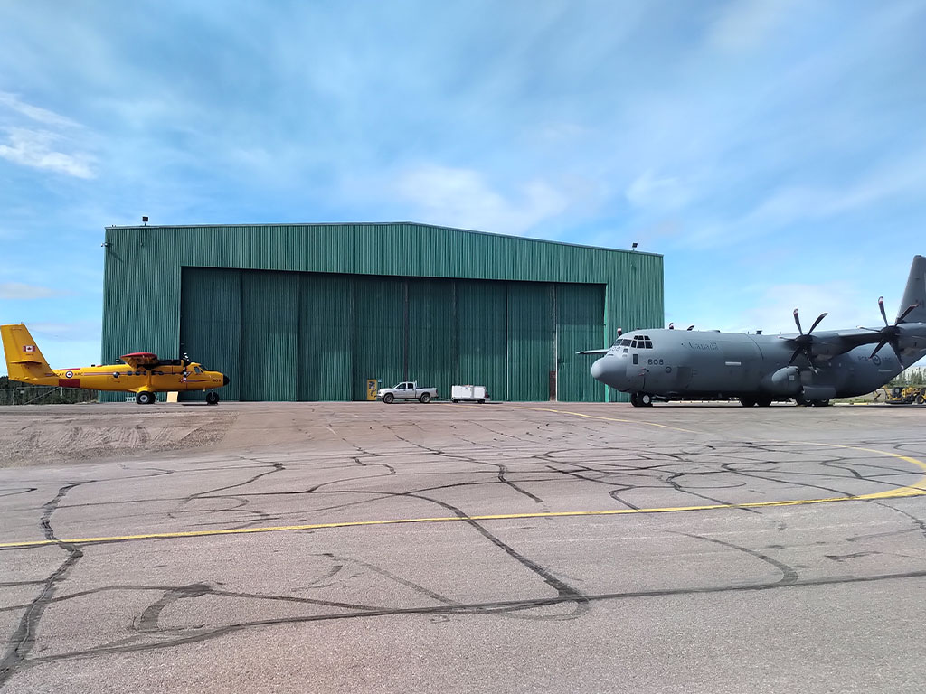 Twin Otter and C-130 Hercules