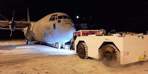 ILS is able to tow aircraft up to 500,000 lbs.