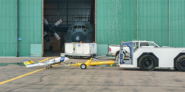 ILS has an aircraft towing tractor and a heavy duty truck for towing small aircraft or helicopters.
